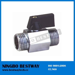 Brass Male Ends Mini Valve with Chrome Plating (BW-B103)