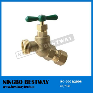 Brass Casting No Kink Hose Bibb Compression Connection (BW-Z54)