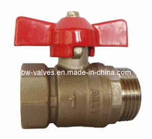 Brass Ball Valve with Aluminium Butterfly Handle