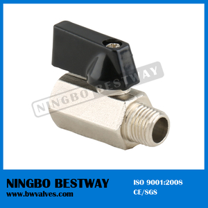 Chrome Plated Mini Brass Ball Valve (BW-B101 Nickel)