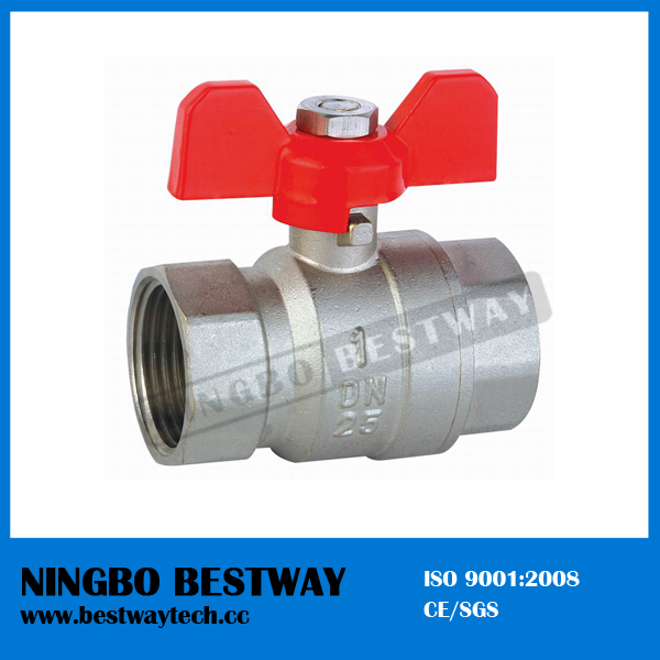 T Handle Flange Brass Ball Valve (BW-B17)