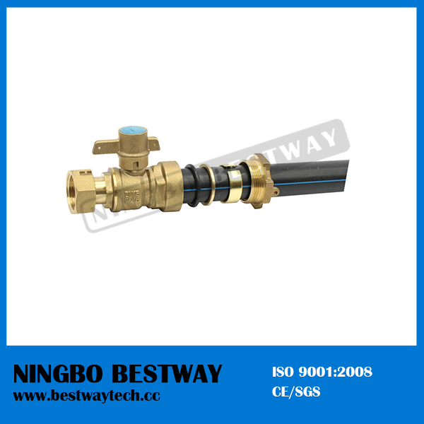 Forged Brass Lockable Ball Valve for HDPE Pipe (BW-L01)