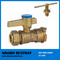 Brass Ball Valve with Locking Handle for Water Meter (BW-L01)