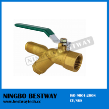 Female Male Brass Ball Valve with Strainer