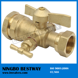 Straight swivel nut and compression fitting Brass Ball Valve male thread (BW-B75)