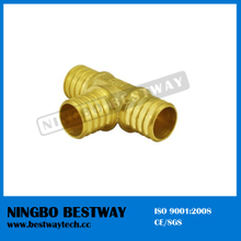 Lead Free Brass Pex Tee Barbed Fitting