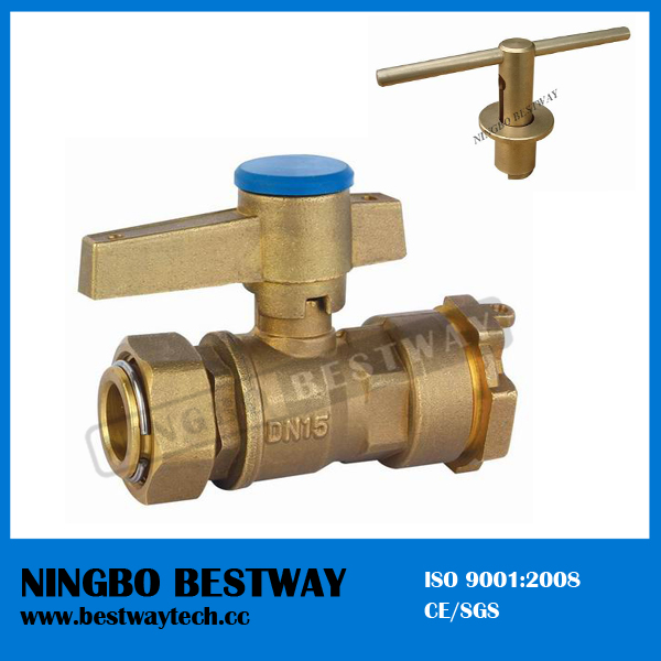 Forged Brass Locking Ball Valve with Key (BW-L01)