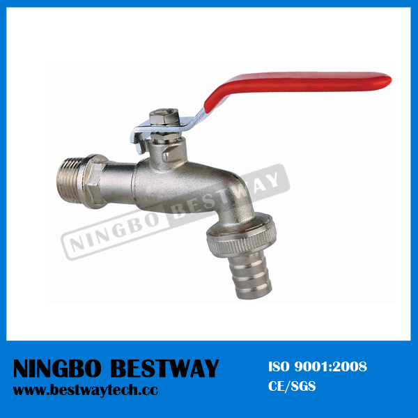 Nickel Plated Flat Steel Brass Bibcock Tap (BW-Z01)
