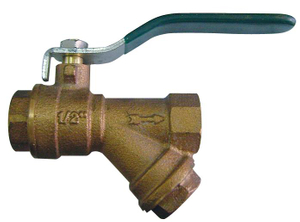 Top Bronze Ball Valve with Filter Price (BW-Q08)