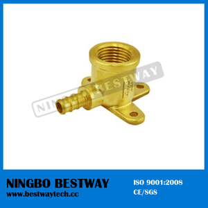 Lead Free Brass Pex Female Wallplate Barbed Elbow Pipe Fitting