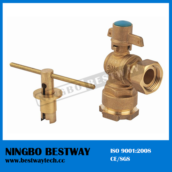 Forged Brass Angle Lockable Ball Valve (BW-L02)