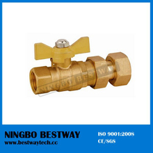 Water Meter Compression Forged Brass Ball Valve