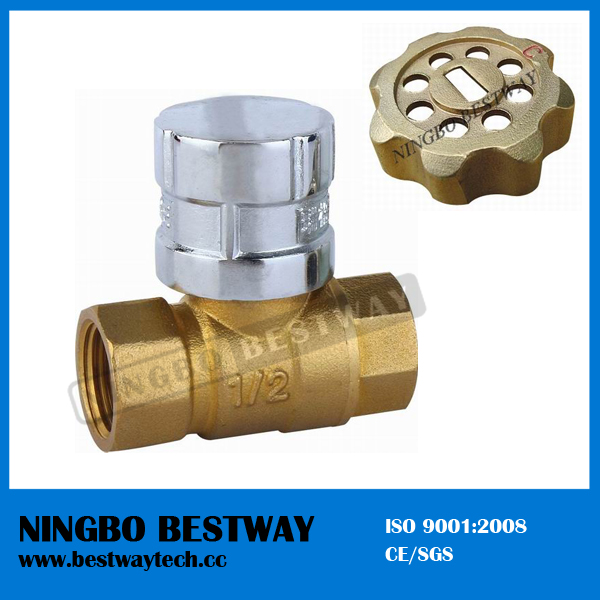 High Performance Brass Lockable Ball Valve Handle with Key (BW-L07)