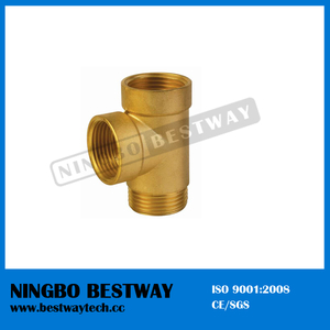 Female and Male Thread with Three Way Brass Fitting (BW-653)