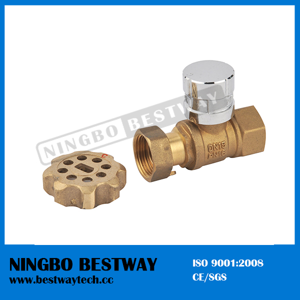 Forged Brass Lockable Ball Valve with Magnetic Lock (BW-L01A)
