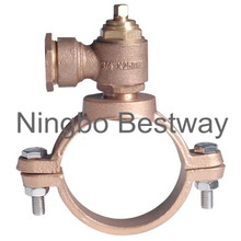 Brass Ferrule Valve with Saddle Clamp